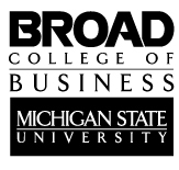 Broad College of Business - Michigan State University